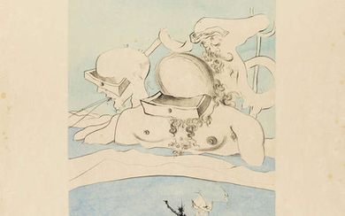 Salvador Dali (1904-1989) Flung out like a Fag-end by the Big-wigs (Field 74-8A; M&L 668d)