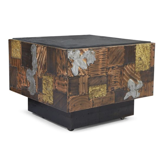 Paul Evans (American, 1931-1987) Patchwork table, circa 1965 Patinated...