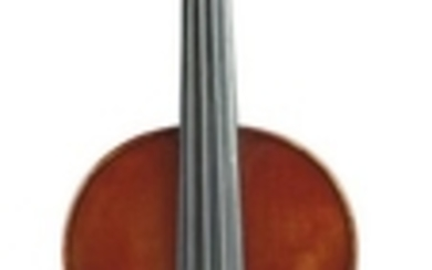 American Violin - C. 1920, possibly James Reynolds Carlisle, for Rudolph Wurlitzer Company, bearing original label, length of back 359 mm., with case and bow.