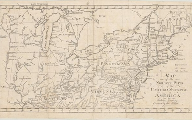 """Map of the Northern Parts of the United States of America"", Bradley, Abraham Jr."