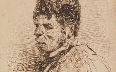 PAUL GAVARNI (Paris 1804 1866 Neuilly Auteuil Passy) A Portrait Study of a Man.