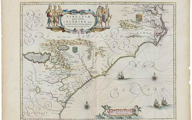 Willem Janszoon Blaeu Virginia & Florida Map