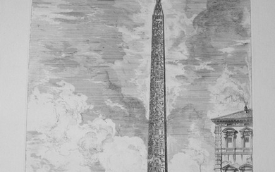 Piranesi, Giovanni: EGYPTIAN OBELISK IN THE PIAZZA DI S. GIOVANNI IN LATERANO, Year I759.