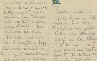 EXTRAORDINARY ARCHIVE OF REVEALING LETTERS GARBO, GRETA....