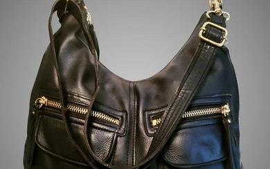 Linea Pelle Italy leather cross body large shoulder bag