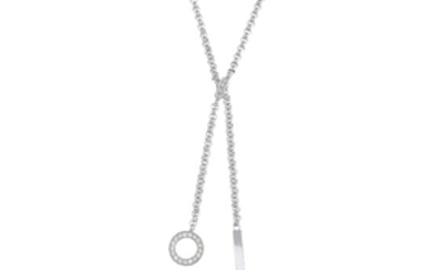 PIAGET - an 18ct gold diamond 'Possession' lariat necklace.