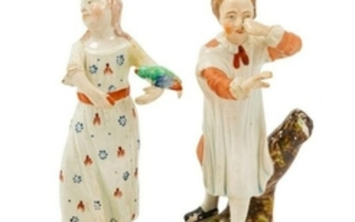 Two Staffordshire Pottery Figures Height 8 inc