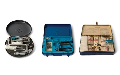 Pair of Volkswagen Tool Kits and First Aid Kit