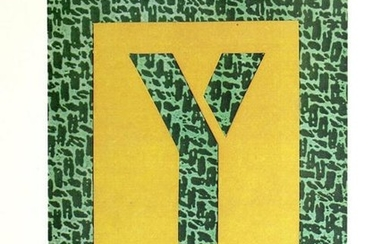 "David Hockney - Letter Y from ""Hockney's Alphabet"""
