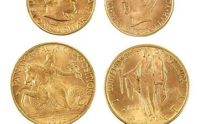 Six Classic U.S. Gold Commemoratives