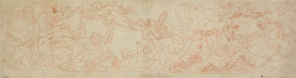 BOLOGNESE SCHOOL, 17TH CENTURY Two mythological scenes.