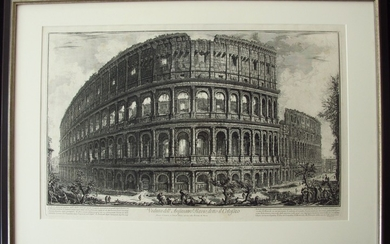 Piranesi, Giovanni: THE COLOSSEUM, Year 1757.