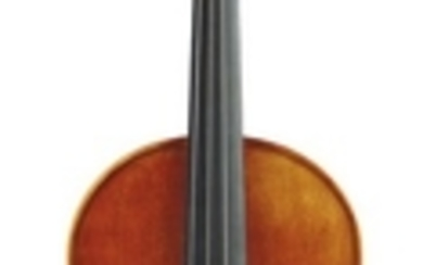 Contemporary Violin - Unlabeled, length of one-piece back 354 mm.