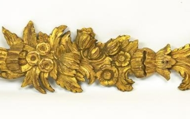 Antique French Carved & Gilt Architectural Element