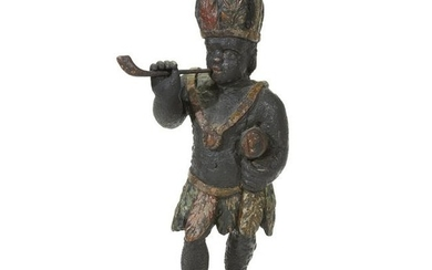 Carved and painted tobacconist counter figure, 19th