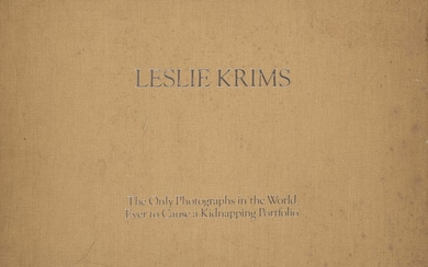 LESLIE KRIMS 1942 THE ONLY PHOTOGRAPH IN THE WORLD EVER TO CAUSE A KIDNAPPING- PORTFOLIO 1970-1971