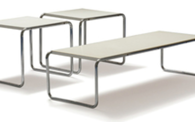 Marcel Breuer - Marcel Breuer: Laccio side tables and coffee table (3)