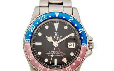 """Rolex. A stainless steel automatic dual time calendar bracelet watch with """"Pepsi"""" bezel"""