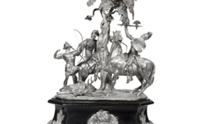 A Victorian sterling silver figural equestrian trophy, 'Liverpool Autumn...
