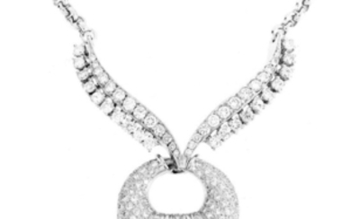 Vintage Diamond and 18K Pendant Necklace