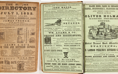The Boston Directory for the Year 1852 82821