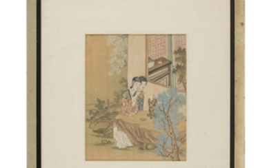 CHINESE SCHOOL (19th/20th century) TWO PAINTINGS Two ink and...