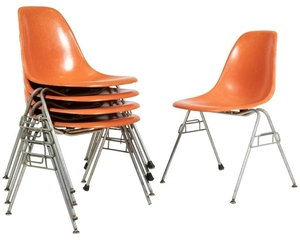 Charles & Ray Eames - DSS Stacking Chairs - Five