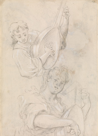 ITALIAN SCHOOL, 17TH CENTURY Studies of a Lute Player.