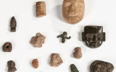 Collection of Pre-Columbian Stone Artifacts