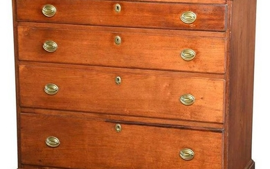 American Federal Walnut Chest of Drawers