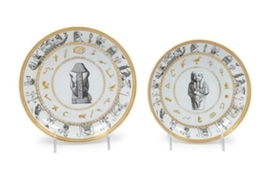 Two French Porcelain Plates LATE 19TH CENTURY