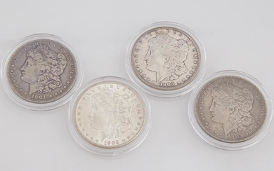 Group of Four Morgan Silver Dollars, consisting of