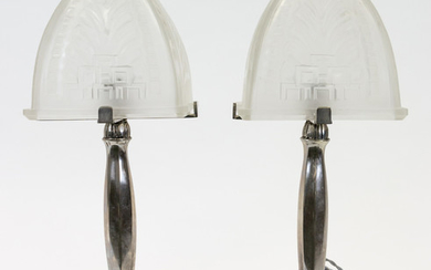 A PAIR OF ART DECO BEDSIDE LAMPS, CIRCA 1930S