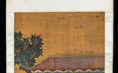 Chinese Antique watercolor painted scroll