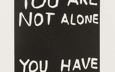 David Shrigley (b.1968) You Are Not Alone