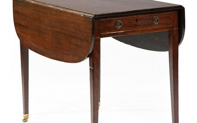 George III Inlaid Mahogany Pembroke Table