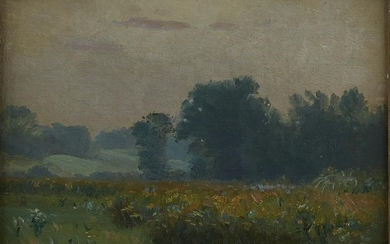 Nicholas R. Brewer Landscape Oil on Canvas-Laid B