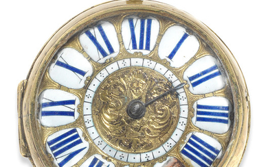 Pascal Hubert, Rouen. A large key wind open face oignon pocket watch
