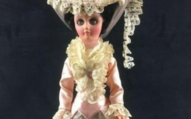Victorian Lace and Satin Dress Doll