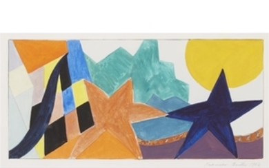 FRANCES BARTH (american, b. 1946) TWO UNTITLED GEOMETRIC ABSTRACTIONS...