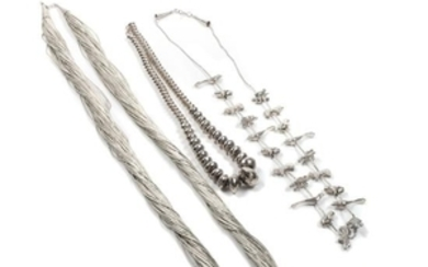 Three Southwestern Silver Necklaces
