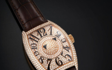Franck Muller. A Pink Gold and Diamond-set Double Mystery Wristwatch