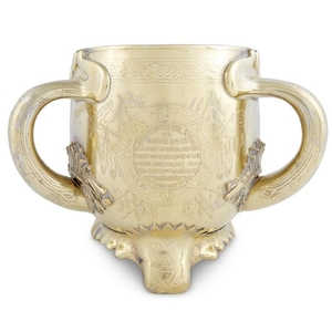 Sterling silver-gilt Native American-style presentation loving cup Tiffany &...