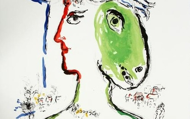 MARC CHAGALL COLOR LITHOGRAPH, 1972