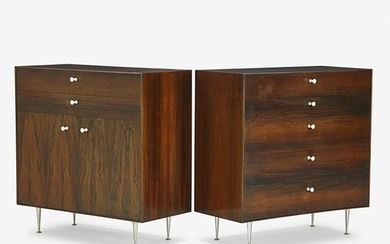 GEORGE NELSON Two Thin Edge cabinets