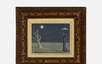 Gertrude Abercrombie, Untitled (Woman and Tree)