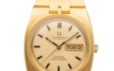 OMEGA, CONSTELLATION, NEW OLD STOCK, YELLOW GOLD