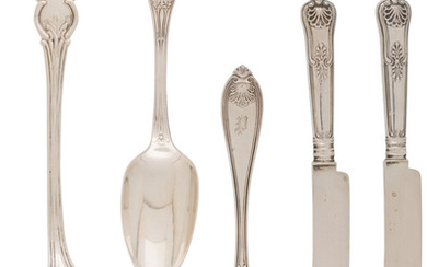 21040: A Five-Piece Group of American Silver Flatware,