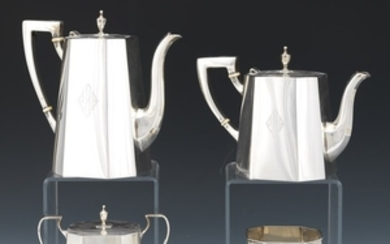 Cartier Sterling Silver Four Piece Tea and Coffee Service