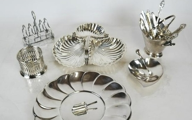 Assorted Group of Silver-Plate Articles